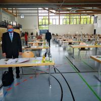 Fraktionsvorsitzender Stephan Unglaub vor Beginn der Sitzung